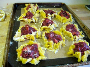 rustic rhubarb tarts