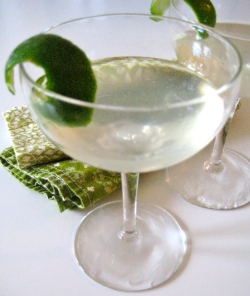 the modern martini (gin + cilantro + lime)