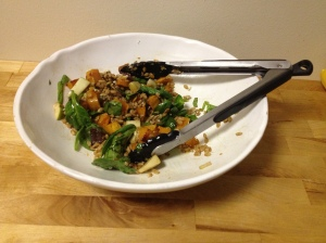 roasted butternut squash and farro salad - leftovers